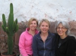 Janet Nixon with Cindy Winther and Leslie Gotfrit travel blog